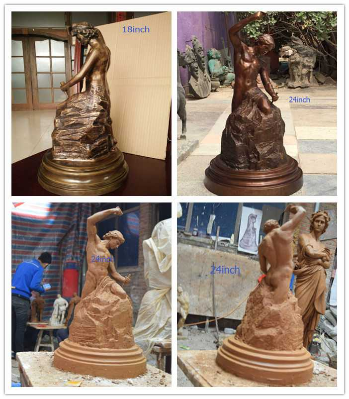 Classical decorative garden bronze self made man statues for sale