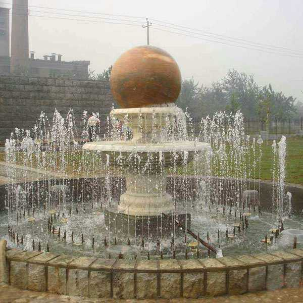 spinning ball water fountains design for sale