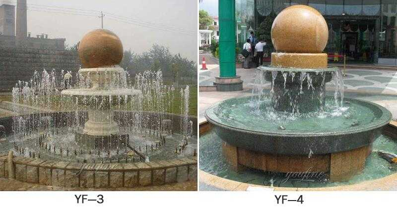 spinning ball water fountains for sale