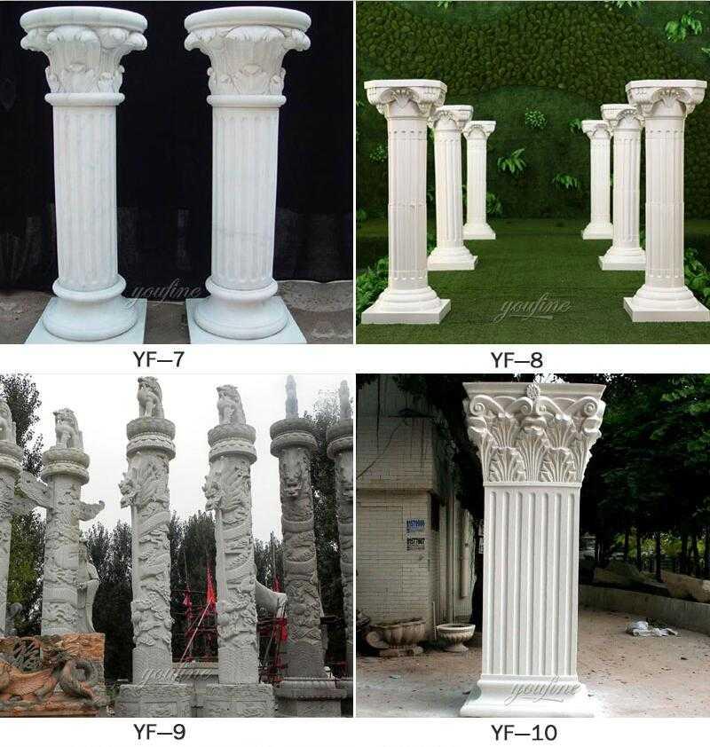stone driveway entrance columns for sale