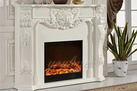 white cheap marble fireplaces for sale