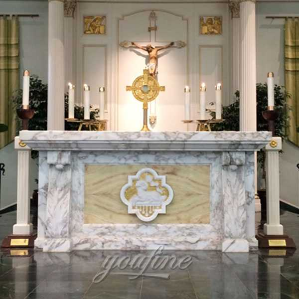 Home Altars For Sale: Hand Carved Religious Church Catholic Marble Altar For