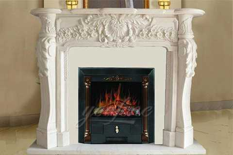 white marble fireplace surround ideas