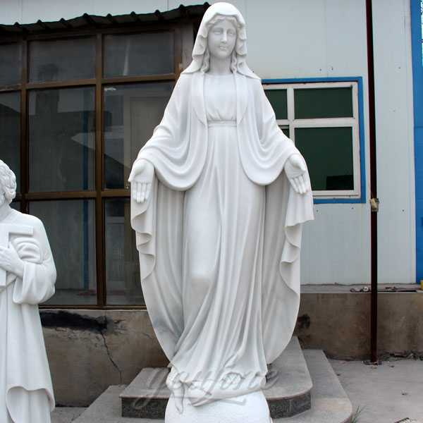 white marble our lady of mary statue for sale