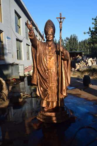 Bronze Pope Statue John Paul For Australia Customer
