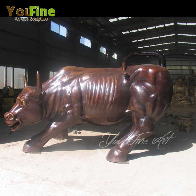 the Bronze Wall Street Bull For Brazil Customer