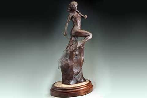 Classical decorative life size bronze self made woman statue on sale BSBC-08