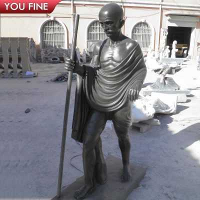 Customized Life Size Black Marble Gandhi Statue for our American Clients