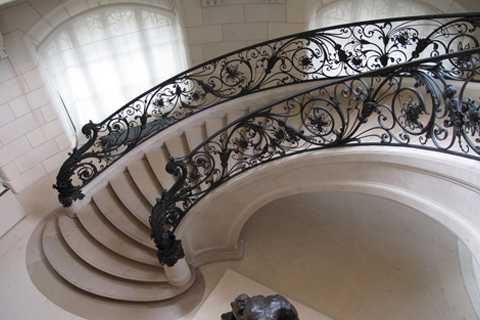 Decorative And Beautiful Wrought Iron Stairway