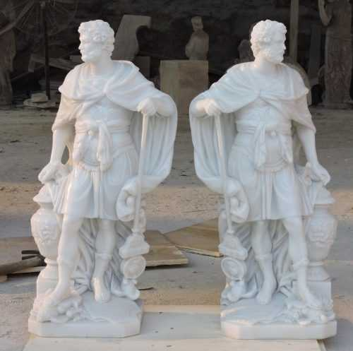 Life Size Warrior Garden Statue for American Clients