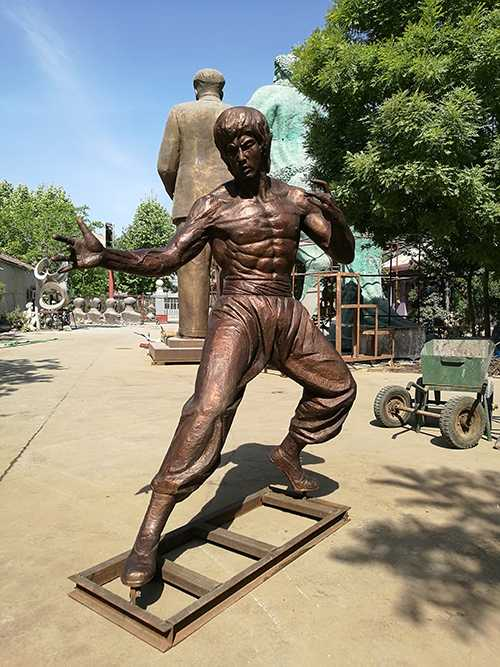 Life Size Famous Bronze Bruce Lee Statue