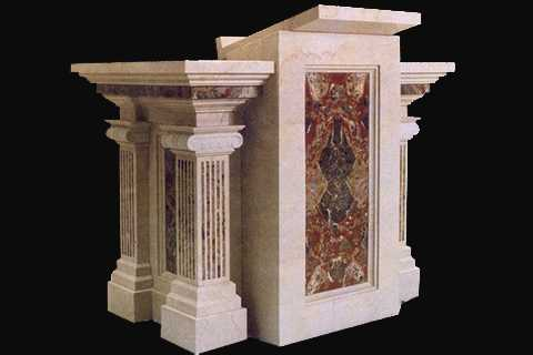 Natural Marble Material Modern Church Pulpit Designs by YouFine–CHS-701