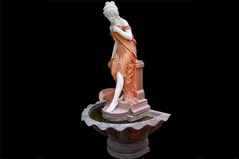 Outdoor Garden Lady Marble Stone Fountains for sale