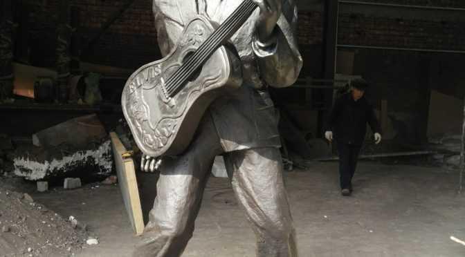 Outdoor Life Size Famous Bronze Elvis Presley Statue