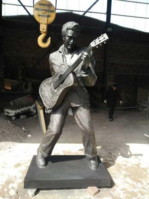 Outdoor Life Size Famous Bronze Elvis Presley Statue BOKK-04