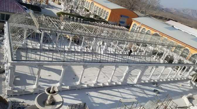 Large majestic white marble gazebo for Europe clients–MOKK-100