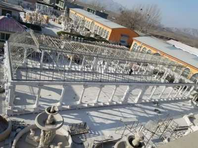 Large majestic white marble gazebo for Europe clients–MOKK-100
