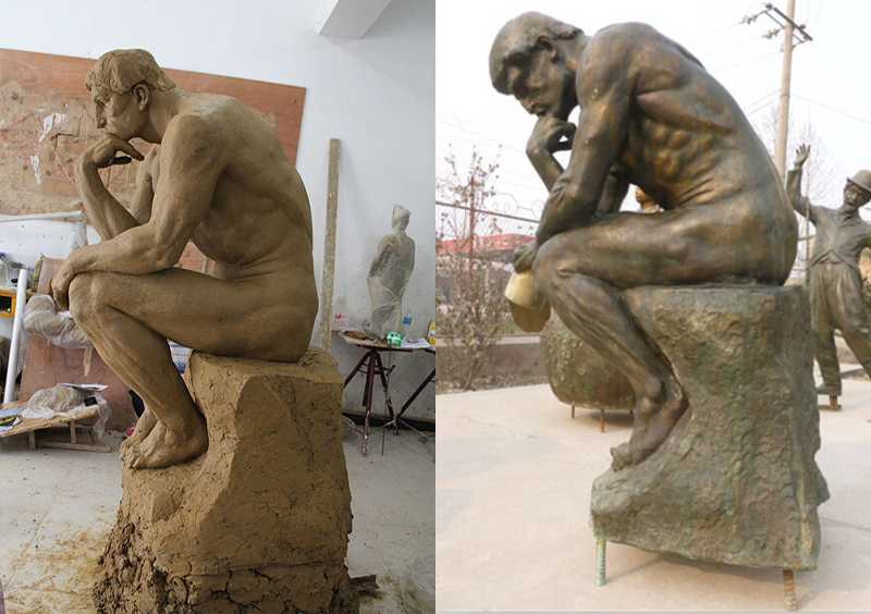 famous bronze statue the thinker replica for sale