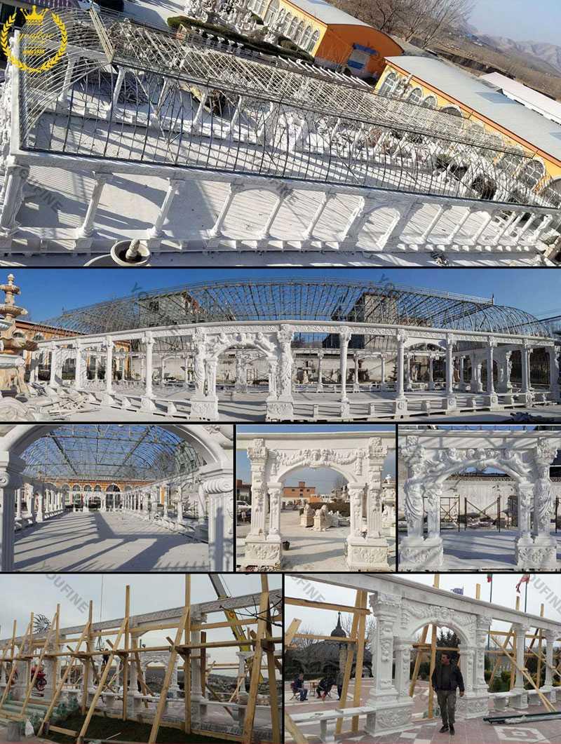 giant white marble gazebos for sale