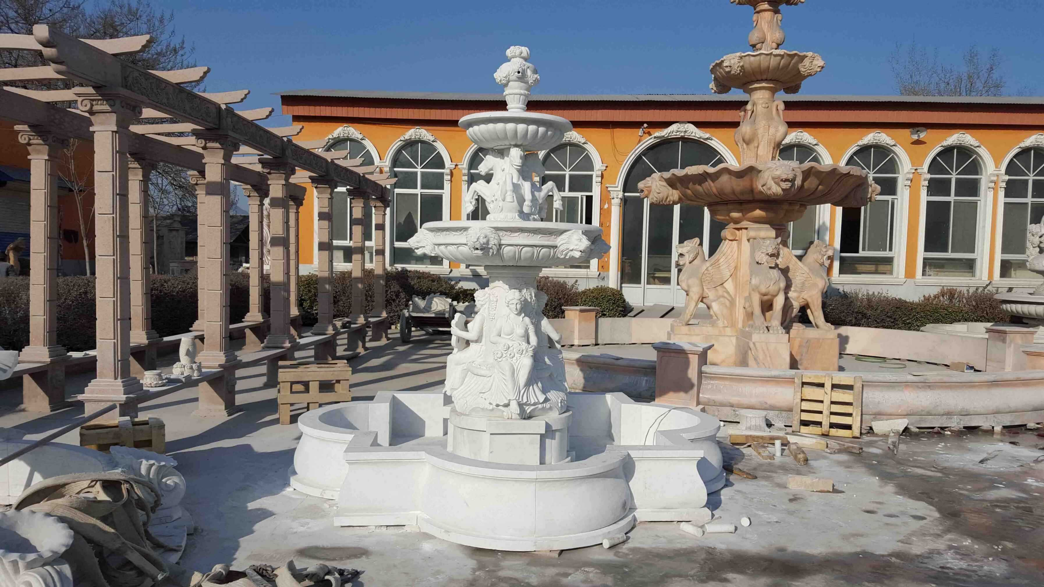 Garden Marble Fountains We Have Made for Our US Client