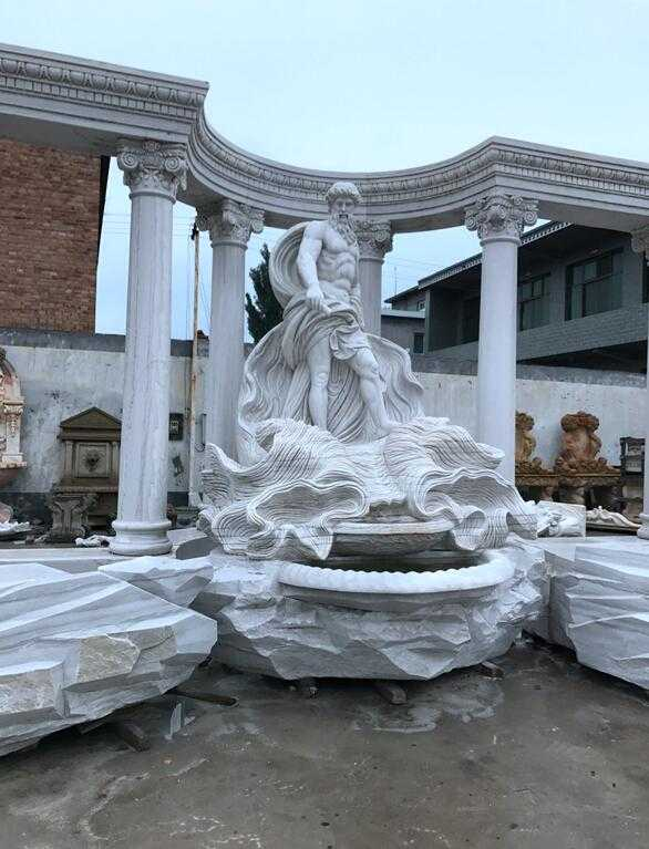 Large Marble Water Fountain for Our Indian Client