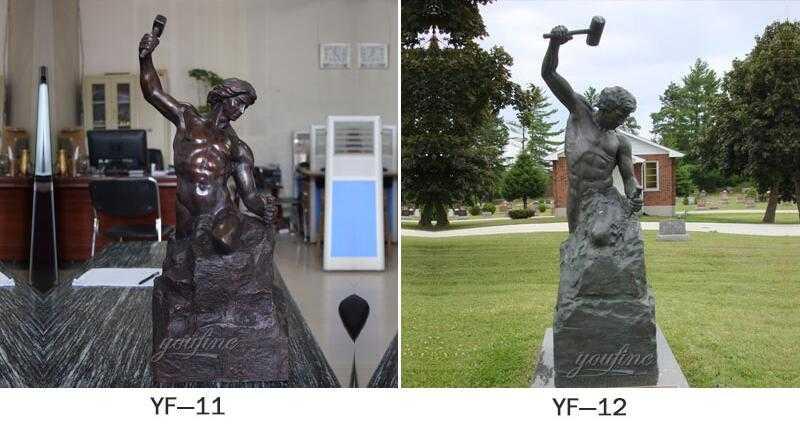 man sculpting himself statue for sale