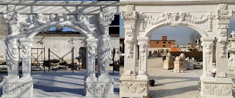 part of large marble gazebo for sale