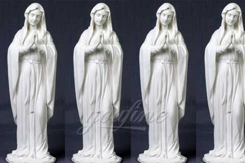 Life Size Outdoor Marble Stone Virgin Mary Statue