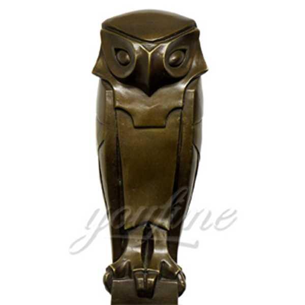 Desktop Decoration Lovely Metal Animal Crafts Bronze Owl Statue for Sale BOK-187