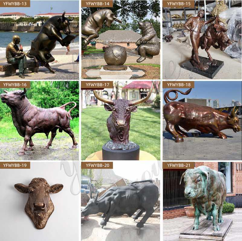 Bronze Bull Statues for sale