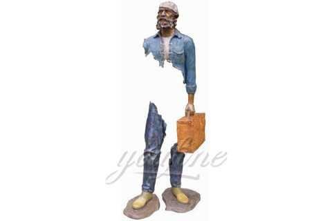 Outdoor Famous Bruno Catalano Abstract Bronze Traveler Statue