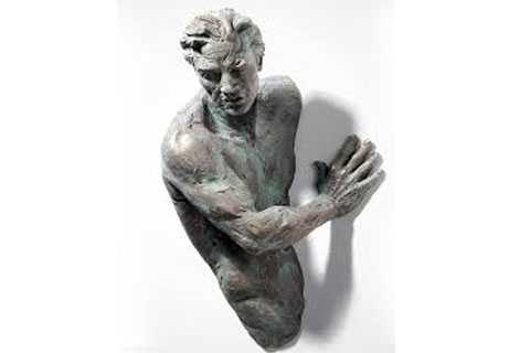 Indoor Cast Bronze Matteo Pugliese Sculpture Prices Wall Decor for Sale BOKK-390