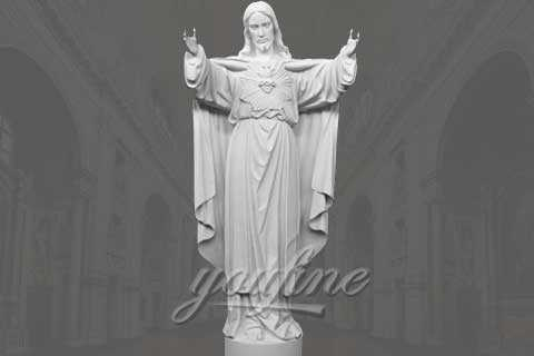 Customized Famous Classic Religious White Marble Jesus Statue