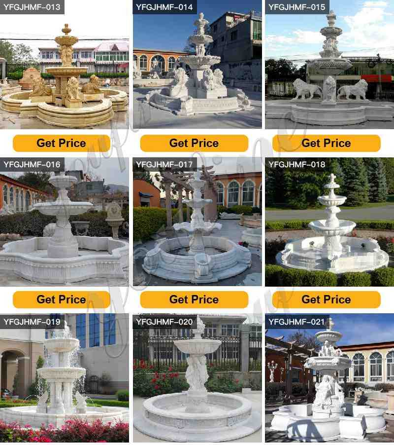 Garden Decoration Large Hand Carving Marble Lion Fountain Design
