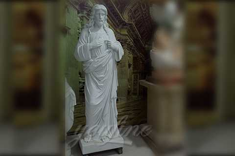 Hand Carved Life Size Stone Statue of The Lord Marble Jesus Statue for Sale