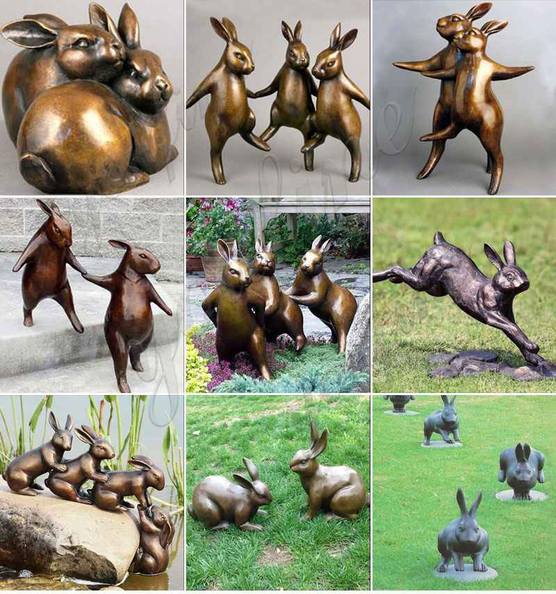 Large Outdoor Decorations Rabbit Bronze Sculpture for Sale