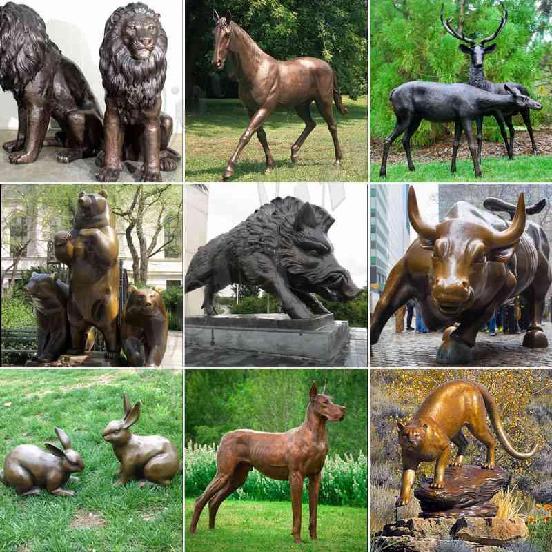 Large Outdoor Decorations Rabbit Bronze Sculpture