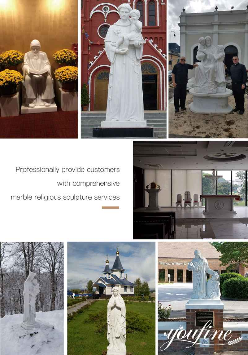 Life Size Virgin Mary Marble Statues for Sale