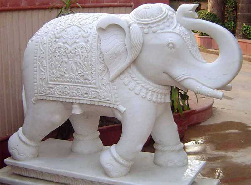 Marble Elephant Statue for Sale