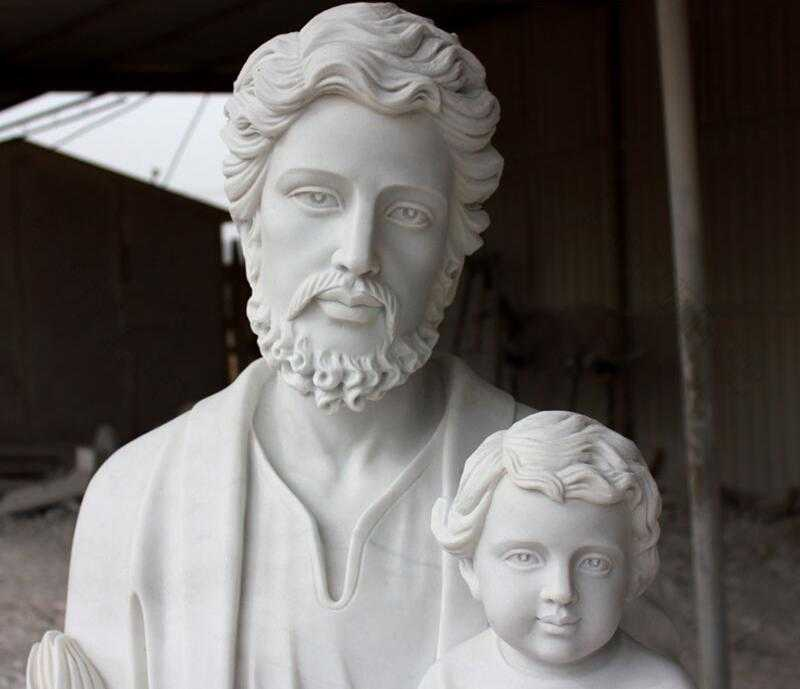 Saint Joseph Holding Baby Jesus Statue Sculpture for sale