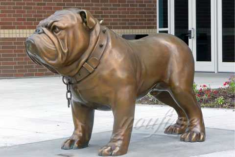 Life Size Garden Bronze English Bulldog Statue BOKK-145