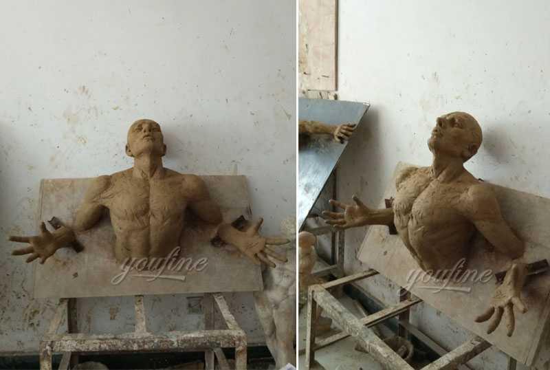 bronze modern sculpture Matteo Pugliese replica statue for sale