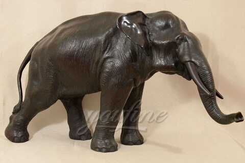 Garden or Zoo Decorative Metal Crafts Animal Bronze Elephant Sculpture