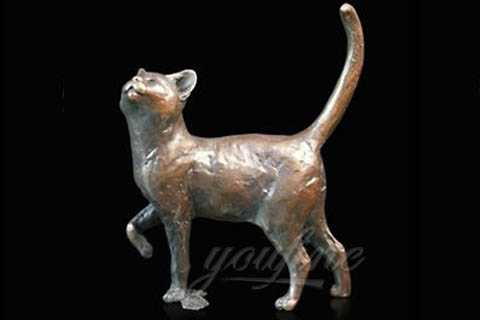 Life Size Bronze Cat Garden Sculpture BOK-150