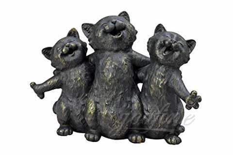 Lovely Life Size Bonze Standing Cats Statues For Sale