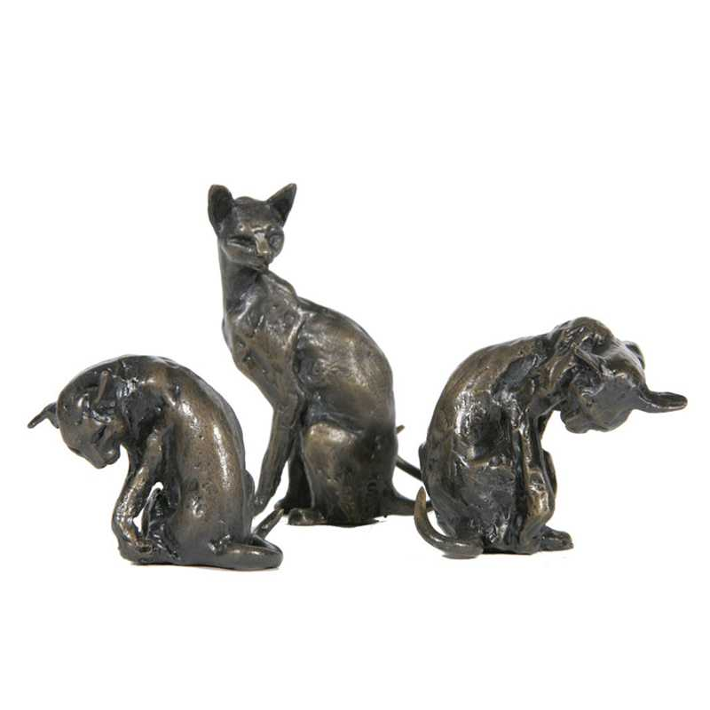 custom made bronze animal cat statue for sale