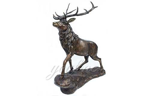 Antique Metal Life Size Bronze Deer Sculpture for Selling