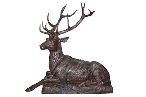 Metal Craft Life Size Outdoor Bronze Deer Sculpture by Casting BOK-156