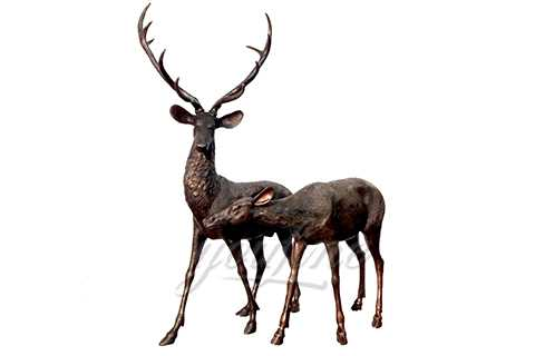 Decorative Outdoor Life Size Antique Bronze Deer Statues for Sale