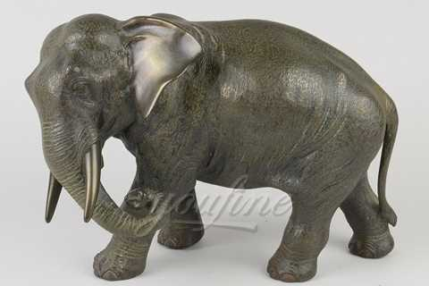 Life Size Little Metal Bronze Elephant Statue from Chinese Supplier